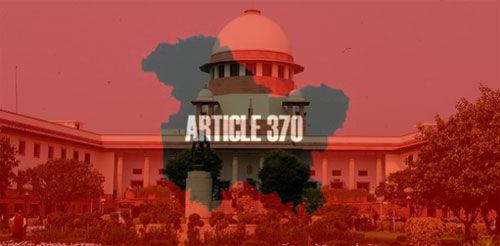 अनुच्छेद 370 को हटाने को चुनौती देने वाली याचिकाओं पर चार हफ्ते में केंद्र से माँगा जवाब