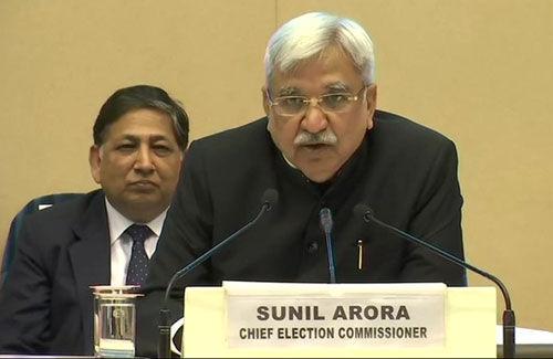 #Loksabha2019 : देश में 7 और मप्र में 4 चरणों में होंगे आम चुनाव, आचार संहिता लागू