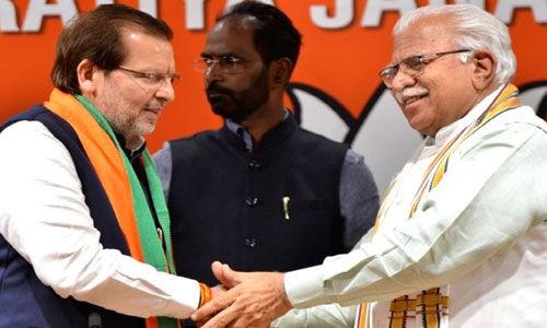 कांग्रेस के पूर्व सांसद अरविंद शर्मा भाजपा में शामिल