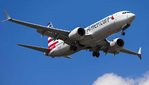 बोईंग 737 मेक्स विमान के शेयर और तीन प्रतिशत गिरे