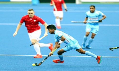 भारतीय हॉकी टीम ने पोलैंड को 10-0 से रौंदा