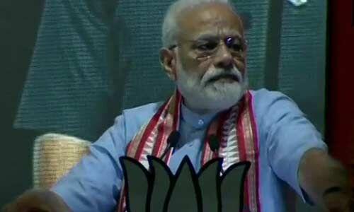 महामिलावटी और आतंकियों को चौकीदार से परेशानी : प्रधानमंत्री मोदी