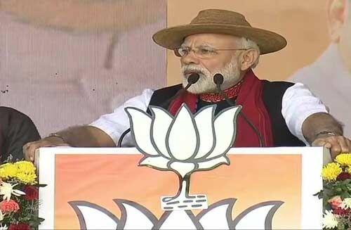 अरुणाचल प्रदेश : कांग्रेस पर मोदी का वार, घोषणा पत्र को बताया ढकोसला पत्र