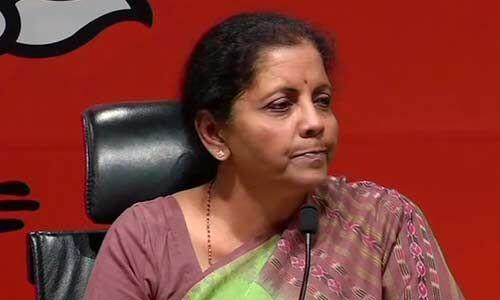 अलगाववादियों के समर्थन में है कांग्रेस का घोषणापत्र : निर्मला सीतारमण