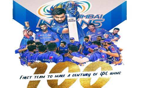 आईपीएल में 100 मुकाबले जीतने वाली पहली टीम बनी मुम्बई इंडियंस