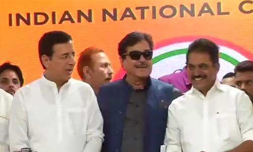 कांग्रेस में शामिल हुए भाजपा के शत्रु , लड़ेंगे पटना साहिब से चुनाव
