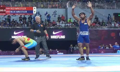 बजरंग पुनिया ने एशियाई कुश्ती चैम्पियनशिप में भारत को दिलाया स्वर्ण