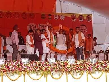 सत्ता में वापसी होने पर कोई देशद्रोह करने की हिम्मत न करे ऐसा कानून बनाएंगे : राजनाथ