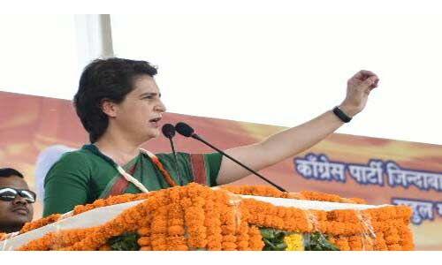 कांग्रेस सकारात्मक सोच रखती है और हमेशा मुद्दों की बात करती : प्रियंका गांधी
