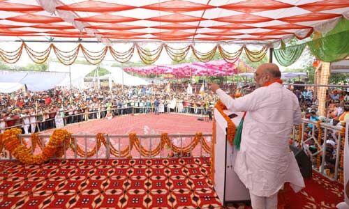 चारों तरफ सिर्फ एक ही नारा है मोदी-मोदी, यह 125 करोड़ भारतीयों का आशीर्वाद : अमित शाह
