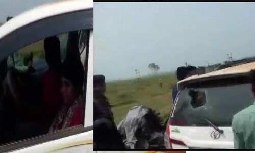 प. बंगाल में बीजेपी उम्मीदवार भारती घोष के काफिले पर हुआ हमला