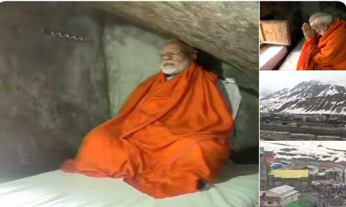 पीएम मोदी ने केदारनाथ की पवित्र गुफा में लगाया ध्यान