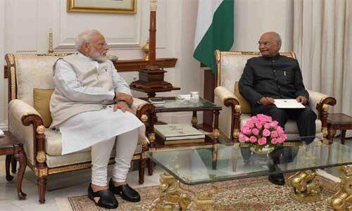राष्ट्रपति ने प्रधानमंत्री का इस्तीफा किया स्वीकार, मोदी कैबिनेट ने भंग की 16वीं लोकसभा