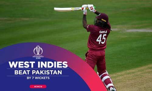 वेस्ट इंडीज ने पाकिस्तान को 7 विकेट से हराया