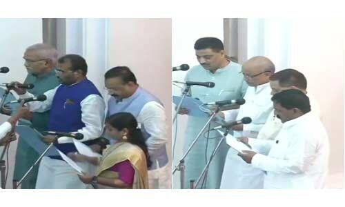 नीतीश कुमार ने किया कैबिनेट का विस्तार, 8 मंत्रियों ने ली शपथ