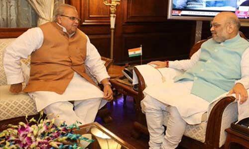 जम्मू-कश्मीर के राज्यपाल से गृहमंत्री ने की मुलाकात