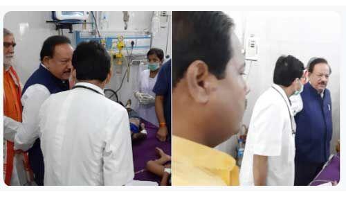 स्वास्थ्य मंत्री पहुंचे मुजफ्फरपुर, कहा - यह बेहद दुर्भाग्यपूर्ण