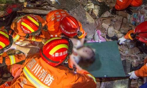 चीन में आया भूकंप, 12 लोगों की जान गई