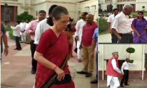 संसद में सरकार घेरने के लिए सोनिया गांधी ने विपक्षी नेताओं की बुलाई बैठक, कई नेता पहुंचे