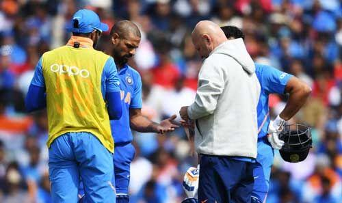 बीसीसीआई ने कहा - शिखर धवन नहीं खेल पाएंगे विश्व कप