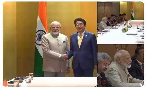 G-20 समिट : भारत-जापान के बीच द्विपक्षीय वार्ता हुई, माेदी ने जापान सरकार के लिए ये कहा