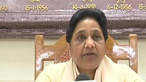 मायावती ने भाजपा पर बोला हमला, कहा - आयकर विभाग की कार्रवाई को बताया राजनीति से प्रेरित