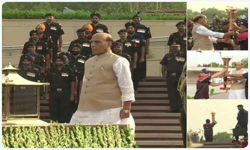 रक्षा मंत्री ने विजय मशाल अभियान को किया रवाना