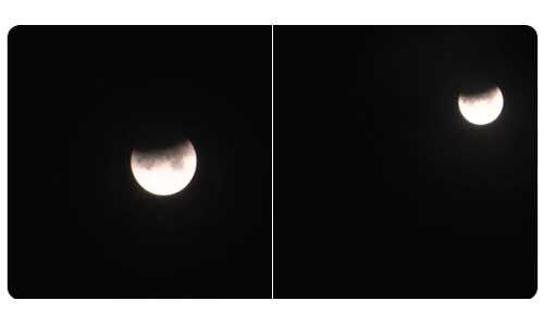 ऐसा नजर आया चंद्र ग्रहण का अद्भुत नजारा