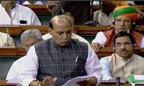 लोकसभा में राजनाथ सिंह ने कहा - भारत और चीन सीमा पर शांति एवं स्थिरता बरकरार रखी जाएगी