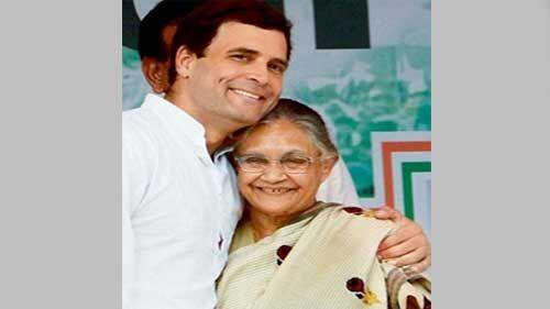 शीला दीक्षित को राहुल गांधी ने बताया कांग्रेस की प्यारी बेटी