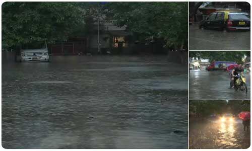 बारिश से बेहाल मुंबई, पटरी से उतरा लोगों का जीवन