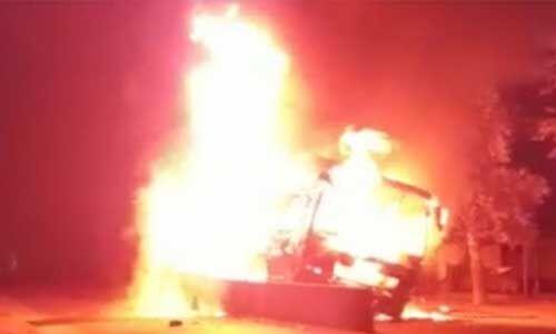 बिहार : बस में आग लगने से 5 की मौत, 29 से अधिक घायल