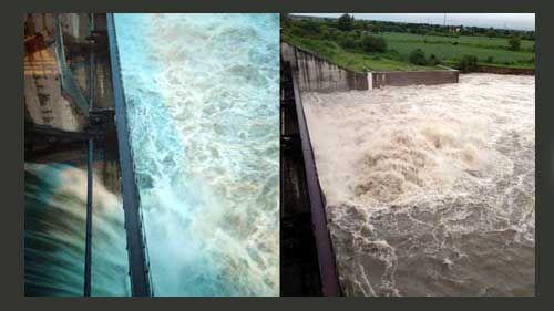 झमाझम बारिश के बाद इंदौर के यशवंत सागर के खोले गये गेट