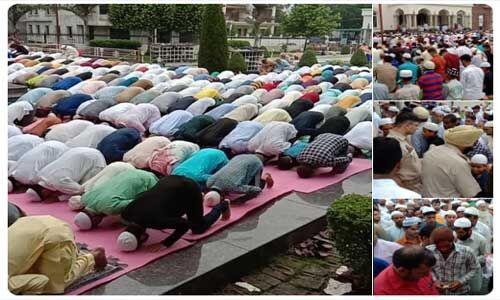 #EidAdhaMubarak : कश्मीर में सुरक्षा की चाक-चौबंद व्यवस्था के बीच मस्जिदों में पढ़ी गई नमाज