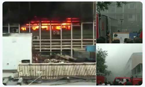 एम्स के आपातकालीन वार्ड में लगी आग, दमकल की 34 गाड़ियां मौके पर