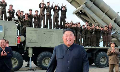 उत्तर कोरिया ने नए सुपर लार्ज मल्टीपल रॉकेट लॉन्चर का किया परीक्षण