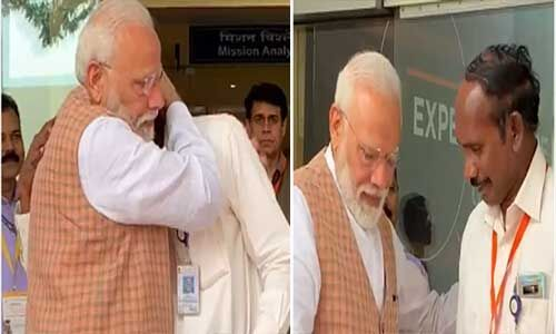 प्रधानमंत्री मोदी से गले लगकर रो पड़े इसरो प्रमुख, बढ़ाया हौसला