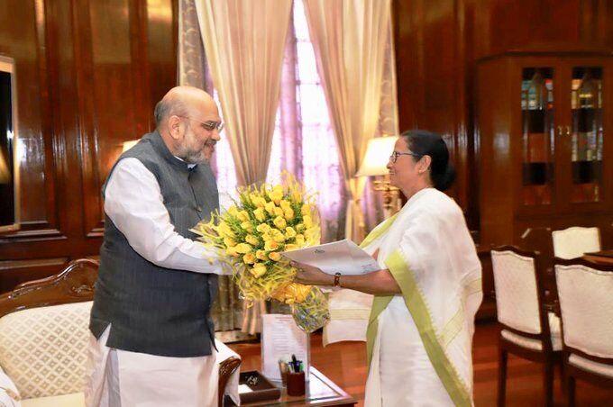 बंगाल की मुख्यमंत्री ममता बनर्जी ने अमित शाह से की मुलाकात