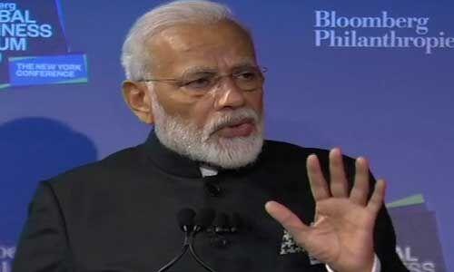 ब्लूमबर्ग बिजनेस फोरम : सबसे बड़े इंफ्रास्ट्रक्चर इकोसिस्टम में निवेश करना है तो भारत आइए - मोदी