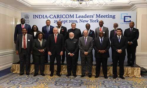 पीएम मोदी ने कैरीकॉम देशों के नेताओं से की मुलाकात