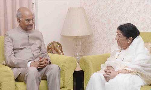 राष्ट्रपति ने लता मंगेशकर को जन्मदिन पर दी बधाई