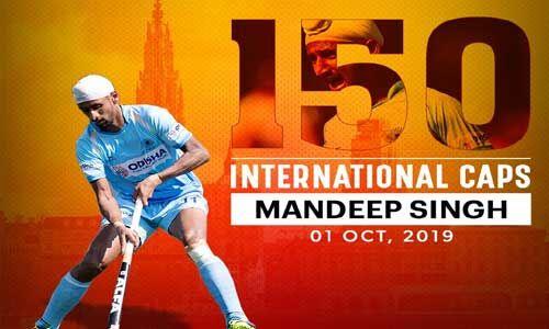 मनदीप सिंह को हॉकी इंडिया ने दी बधाई, 150 अंतरराष्ट्रीय मैच पूरे करने पर