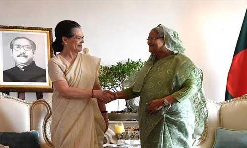 बांग्लादेश की प्रधानमंत्री शेख हसीना ने सोनिया गांधी से की मुलाकात