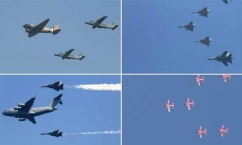 वायुसेना 87वें स्थापना दिवस : स्वदेशी युद्धक विमान तेजस ने करीब 2 मिनट तक करतब दिखाकर महफिल लूट ली