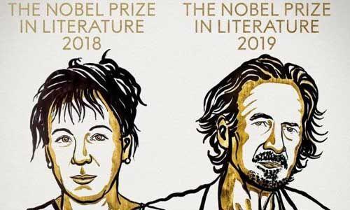 ओल्गा तुकार्सजुक को वर्ष 2018 और पीटर हैंड्के को वर्ष 2019 का नोबेल साहित्य पुरस्कार