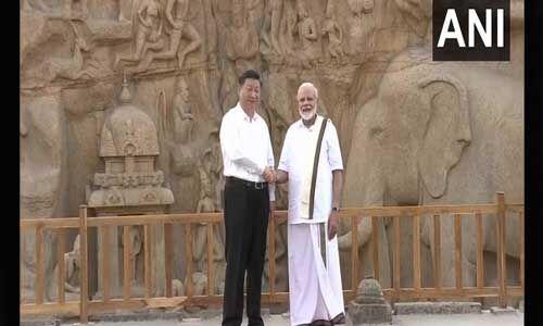 महाबलीपुरम में महामुलाकात : वेष्टि पहने PM ने शी को बताया पुराना संबंध