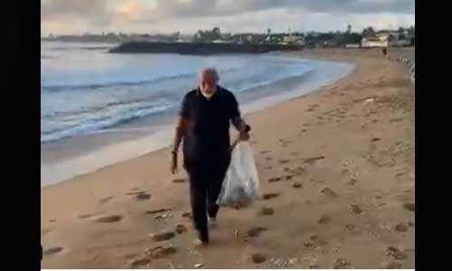 प्रधानमंत्री ने महाबलीपुरम में समुद्र किनारे की सैर, कचरा उठाकर दिया स्वच्छता का संदेश