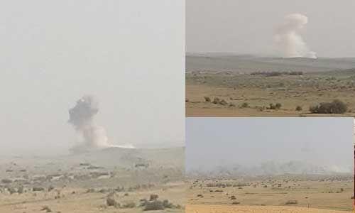 सेना के युद्धाभ्यास से थर्राया रेगिस्तान, बमबारी से दुश्मन के ठिकानों को किया तहस-नहस