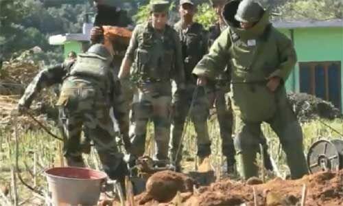 करमारा सेक्टर में भारतीय सेना ने तीन मोर्टार शेल निष्क्रिय किए