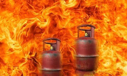 चीनौर में फटा गैस सिलेंडर, 3 की मौत, 5 गंभीर